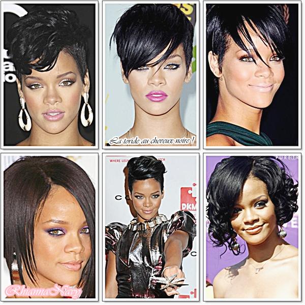 On aura vu  Rihanna en toutes les couleurs de cheveux !  Brune , Rouge , Noire , Blonde... Mais laquelle préfères-tu ? Laquelle lui va pas si bien ? Dis moi tous !