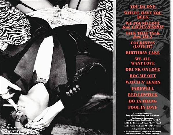 Le booklet électronique de la version deluxe de l'album « Talk That Talk »