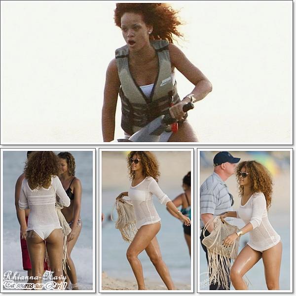 Flash Back !RIHANNA SUR UNE PLAGE EN BARBADELe 4 aout  Rihanna a été aperçue prenant du bon temps sur une plage en Barbade avec plusieurs amies   Top ou flop ?! Elle est magnifique en maillot de bain !