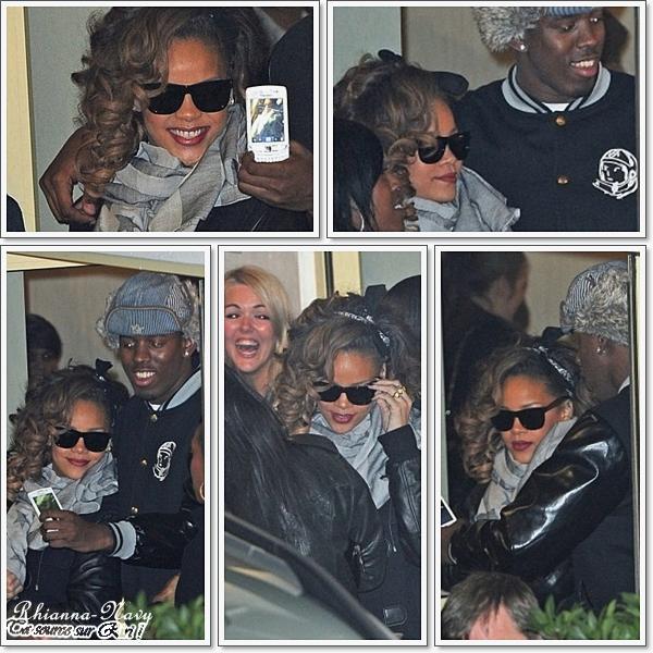 """20 Novembre(Hier soir) : Rihanna quitte les studios de """"X-Factor"""" à Londres"""