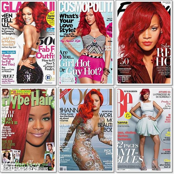 Rihanna & les couvertures des magazines > Elle est vraiment sublime !