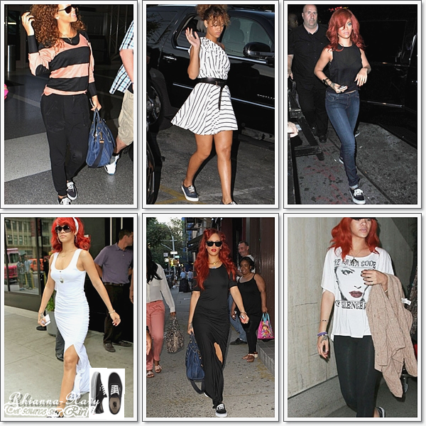 . Quand notre sublime Rihanna n'est pas sur scène ou en soirée elle se détend avec ses Vans ! Alors tu trouve qui lui vont bien ? .
