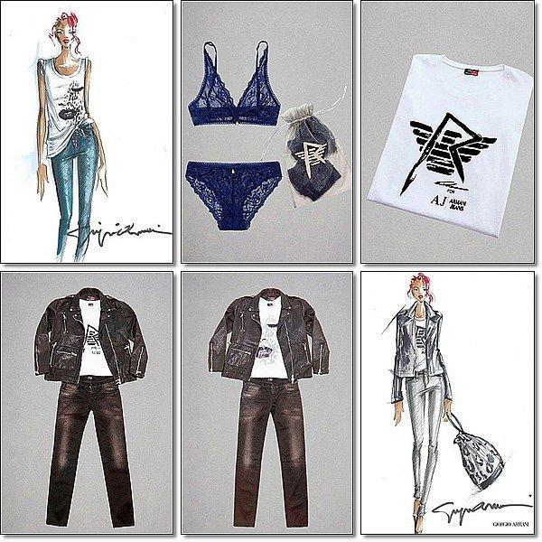 . VÊTEMENT « ARMANI » PAR RIHANNA Dès mi-novembre, donc sous peu, vous pourrez trouver chez Armani une toute nouvelle collection de vêtements et sous-vêtements signés Rihanna. En effet, elle a prêté et signé à son nom une série de jeans, de tops, de vestes et de lingerie qu'elle a créée avec l'aide de la marque Armani Tu aimes le style de vetements ? .