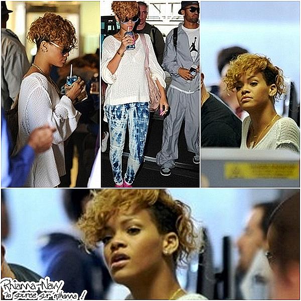 03 Janvier  Rihanna et Matt Kemp à l'aéroport de Los Angeles .