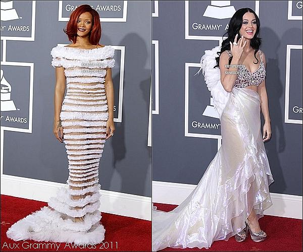 ARTICLE EN COLLABORATION AVEC KatyPerryH   Parmi ses images, prèfères tu la robe de Rihanna ou celle de Katy ? A toi de choisir !