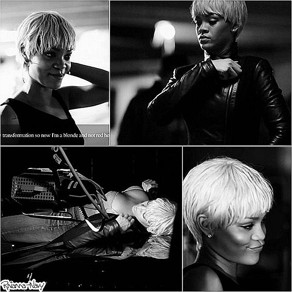 Rihanna sur le tournage de la publicité pour « Armani » Tu aimes? *****