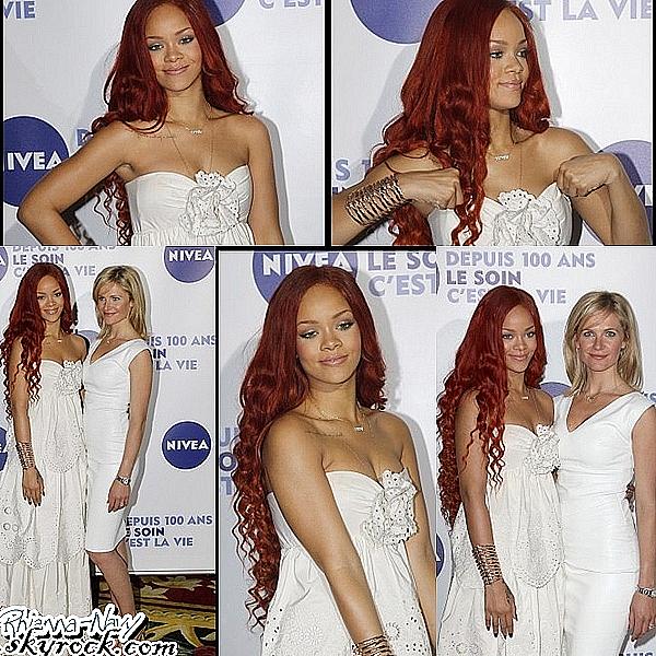 "6mai 2011; Rihanna au ""Grand Hotel INTERCONTINENTAL"" pour un évenement ""NIVEA"" à Paris Tu aimes sa tennue ? Moi j'adore !"
