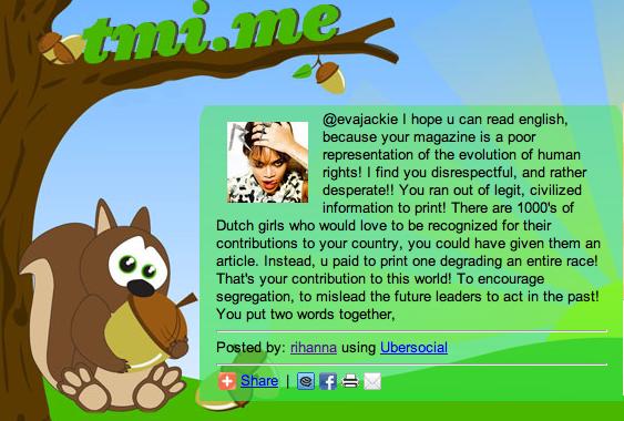 **Rihanna répond au magazine néerlandais qui l'a insultée