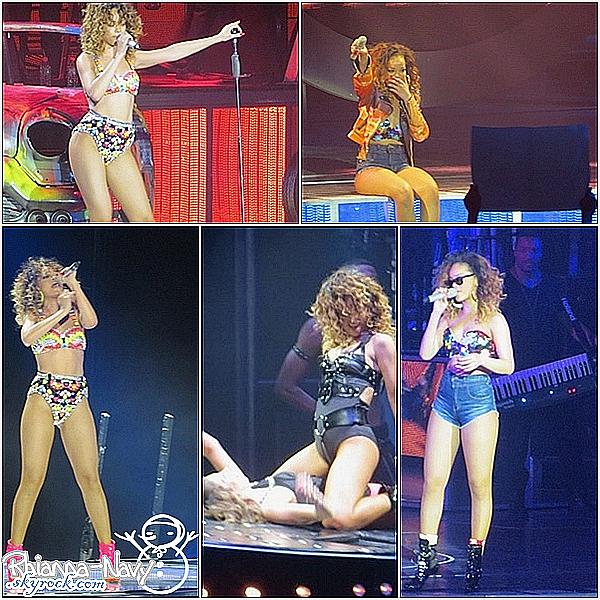 """20 Décembre; Concert à Londres, Angleterre photos du show entier provenant d'un des trois derniers concerts de Rihanna dans le cadre de sa tournée mondiale. Elle apparait magnifique et souriante tout au long du show.  +De plus, nous avons appris ce soir que Drake prévoit de tourner un vidéo clip pour la chanson « Take Care ». Rihanna y fera-t-elle une apparition ? Nous en saurons sûrement plus dans les jours à venir.  Oui, comme vous pouvez le voir sayé de """"Loud tour"""" de Rihanna se terminent aujourd'hui ( ce soir ), J'ai été trés heureuse de la voir le 19octobre à Lyon, de toute façon on veux que sont bien, elle pourra se reposer comme sa :) Tu la vu dans un concert ? Où? raconte moi tous ! :)"""
