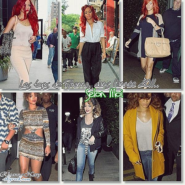 **Les tops de Rihanna , Dans l'année 2011 ..  Du meme avis que moi ? Dis moi tous !