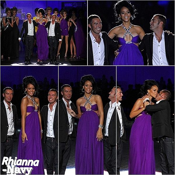 27 Septembre 2007; Rihanna à été vus  after-party du défilé de la collection Dsquared à Milan.  Top ou plutôt flop ? moi j'aimes bien sa tenue, donc sa mérite un top pour moi.  Ceci est un flashback - Ceci est un flashback - Ceci est un flashback  *
