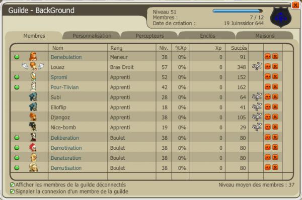 Article #3 Info sur ma guilde :p