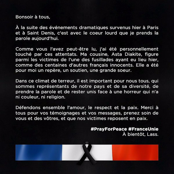 PrayForPeace#FranceUnie