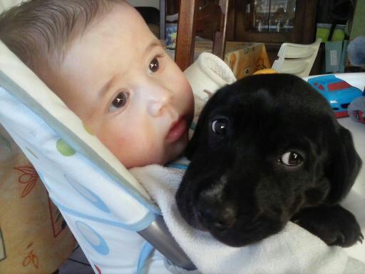 ma fille et sa petit chienne