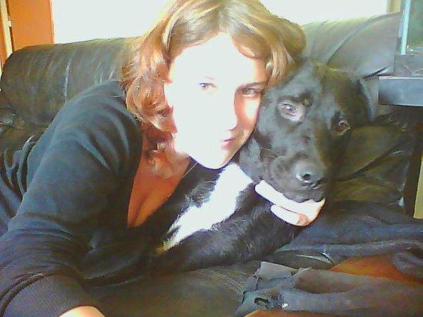 ma chérie et notre chienne chana