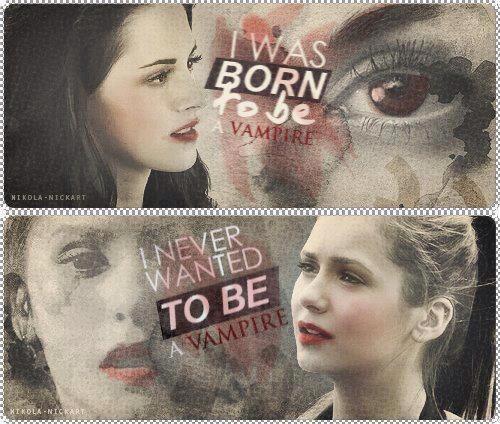 Elena Gilbert • Bella Swan | | I'm a VAMPIRE.