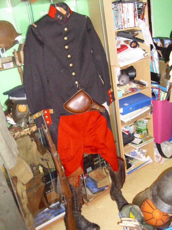 Mon uniforme officier début de guerre ww1