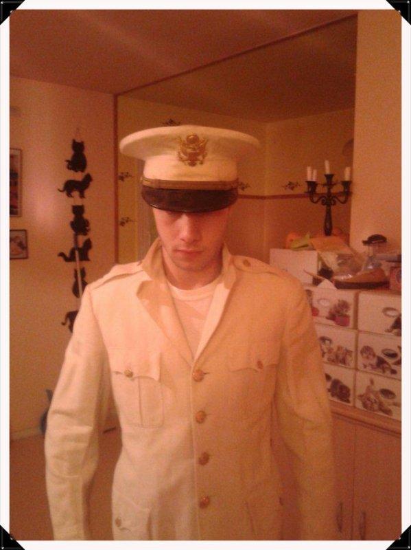 Ma veste et casquette et pantalon us de parade au usa ww2