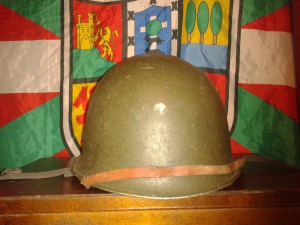 Mes 2 casques Français mod F-1 et mod  M 51TAP après guerre