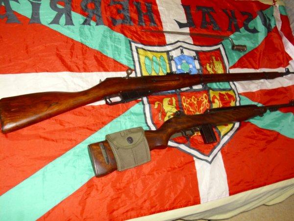 Ma carabine usm1 et mon mosin nagan ww2 + bayo napoleonienne