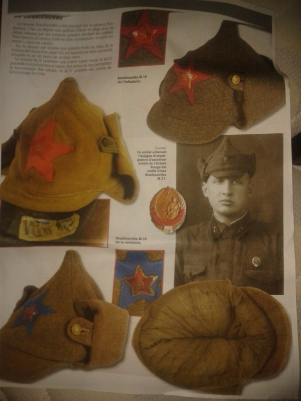 Bonnet sovietique de la cavalerie Boudionovska ww2 (rare)