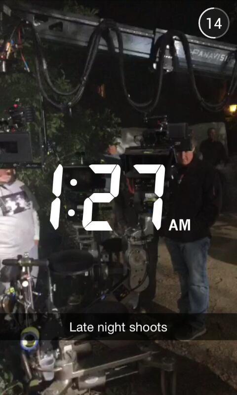 Troian, Keegan et Shay sur le tournage de la saison 6 de PLL le 17/04/15