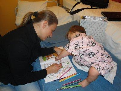 Petits moments avec Tatie quand Maxine était encore hospitalisé