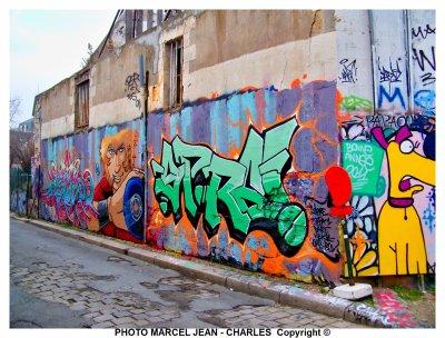 A Orleans  Graffitis Dans Les Vieux Quartier En Voie De