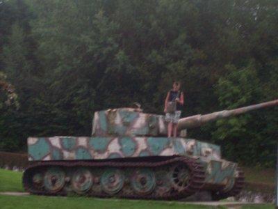 mois sur un char tigre