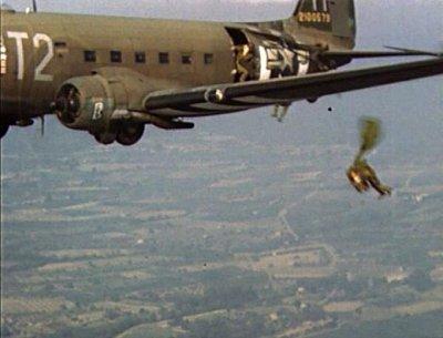 parachutage par un c 46
