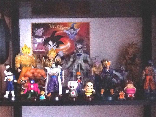 ma colletion de figurines dragon ball z