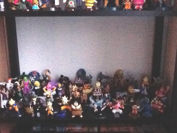 ma collection de gashapons dragon ball z