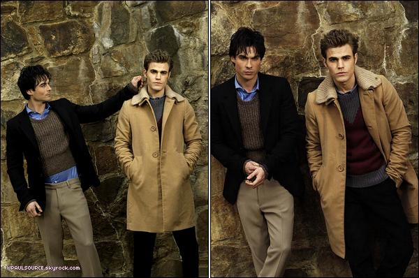 Photoshoot pour les frères Salvatore. Ca ne vous fait pas penser à une campagne pour Burberry ? J'AIME ! :D