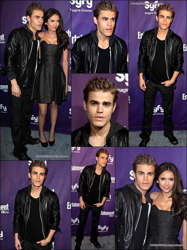 24 Juillet 2010 Et voici les dernières photos du Comic Con ! En compagnie de la jolie Nina, qui nous a fait un TOP! Et Paul est sexy tout en noir !