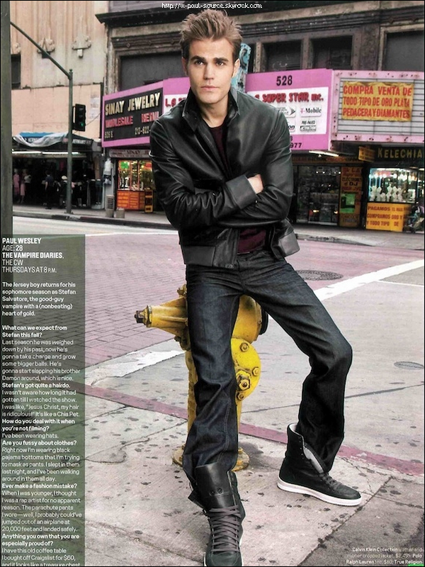 Scan de Paul pour le Magazine MAXIM