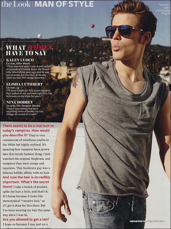 Scans de Paul dans le magazine Style Of Man Je vous laisse admirer, ça se passe de tout commentaire  ;)