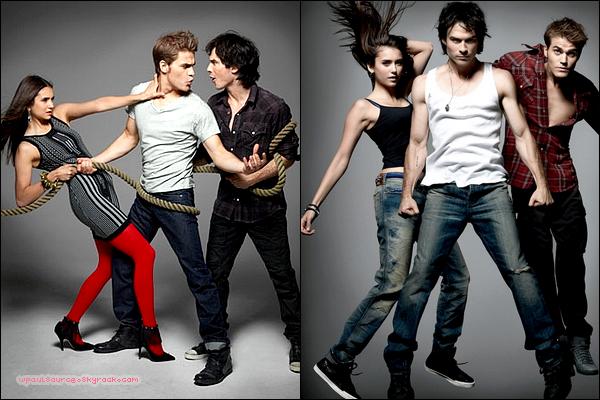 Shoot pour le magazine Rolling Stone! Ca faisait bien longtemps qu'on avait pas vu un shoot du trio réuni! J'espère qu'il y en aura d'autres! J'aaaime !  $)