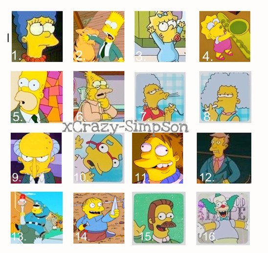 Personnages de Springfield :P
