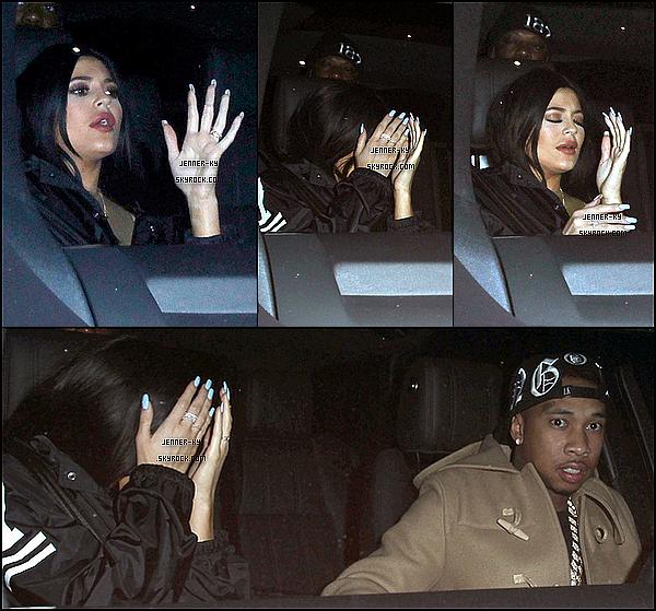 *9/01/15 - Kylie a quitté le Project Nightclub accompagné de Tyga à Hollywood. Ils avaient donc l'air ravis d'être photographiés sur ces clichés... Des avis ? *