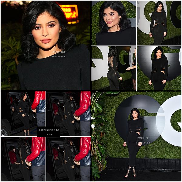 *03/12/15 - Kylie s'est rendue au GQ Men of the Year Party, puis au burger In-N-Out dans Los Angeles. Kylie à jouer la simplicité cette fois-ci et c'est un merveilleux top! La robe lui va à merveille, j'en suis fan.*