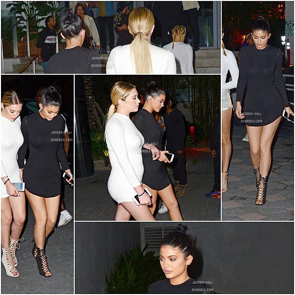 *06/12/15 - Kylie a fait du shopping accompagnée d'Hailey Baldwin à Miami, puis le soir elle a quitter une soirée. Bien que je n'aime pas trop l'habit que porte Kylie, je trouve qu'elle le porte à merveille et qu'elle est parfaite dedans !*