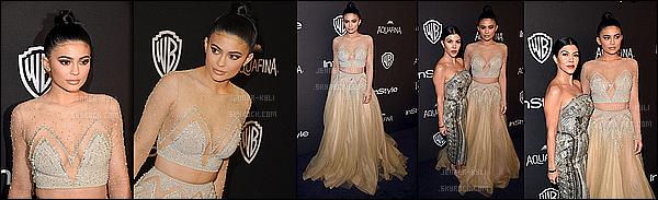 10/01/2016 : Kylie s'est rendue à la Golden Globe Awards Post-Party 2016. - Beverly HillsOn a pas l'habitude de voir Kylie dans ce genre de tenue, mais il faut le dire : elle est magnifique! Sa mise en beauté est superbe, ainsi que la coiffure.
