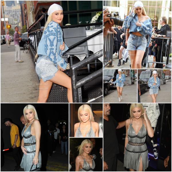 08/09/2016 : Kylie Jenner a été vue se baladant dans les rues, puis à la Nylon Magazine Party. - NYJe trouve Kylie juste magnifique sur le premier candid. J'adore sa tenue, sa mise en beauté est complètement superbe. Gros top sur ces candids.