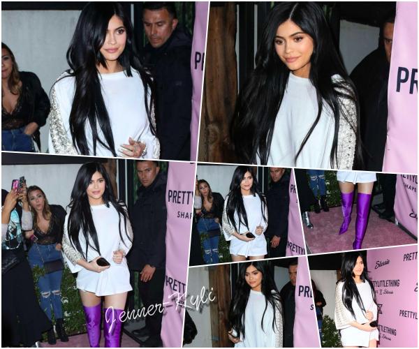 *11/04/17 - Kylie a été vue au lancement de la collection Prettylittlething x Stassie à Los Angeles. Malgré ses cuissardes plutôt vraiment TRES flashy, je trouve Kylie resplendissante comme à son habitude. Un top quand même pour moi !*