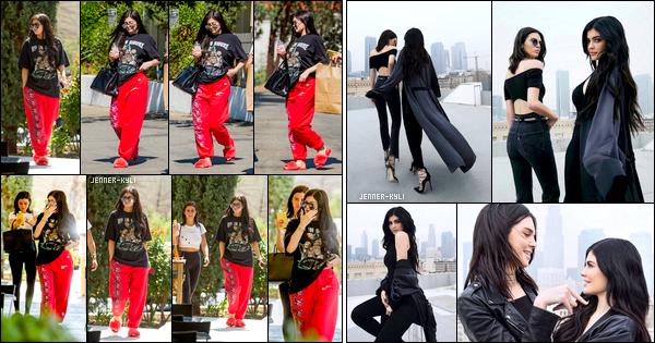 *04/08/17 - Kylie a été vue avec des amis allant acheter quelque chose à manger au Blue Table, à Los Angeles. De plus, voici le shooting Kendall+Kylie pour la collection printemps 2017. Les filles sont ravissantes et j'adore vraiment les voir ensemble. *