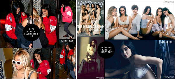 *14/08/17 - Kylie a été vue allant manger un restaurant italien nommé «Il Tramezzino» situé dans Beverly Hills. Le soir, Kylie a été vue avec Kendall allant au cinéma. Le lendemain, elles ont été vues quittant le tournage de KUWTK et le soir Ky était au restau.*