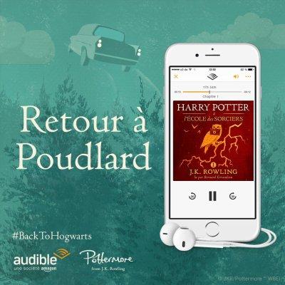 82 . Harry Potter (Tome 1) Harry Potter à l'école des sorciers de J.K. ROWLING - Lu par Bernard Giraudeau - Durée : 8 h et 21 min - Éditeur : Pottermore Publishing