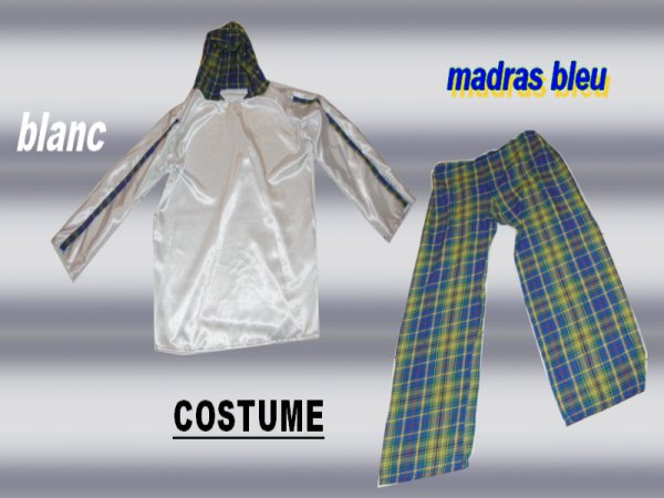 Madras bleu et blanc