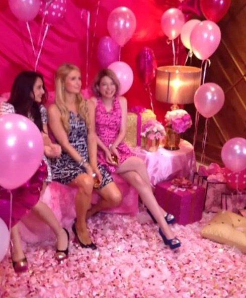 Pink feathers glitter and diamonds