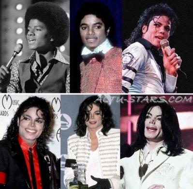L'évolution physique de Michael Jackson